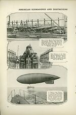 1919 Magazine Article Winter Storm Effect on Navy Fleet Subs Destroyer Blimp WWI