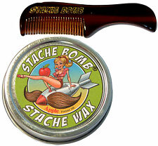 Apple Stache Bomb Stache Wax- Moustache Comb and Mustache Wax Set