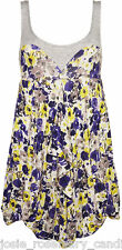 Topshop Yellow Purple Rose Print Floral Tunic Dress 10 38 Sweetheart Summer New