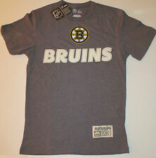 NWT Boston Bruins Gray Short Sleeve Stitched Lettering Logo Graphic T Shirt Med