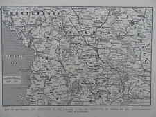 1916 WAR MAP OPERATIONS IN BALKANS AFTER OCCUPATION OF SERBIA BY AUSTRO- WWI WW1