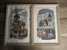 Set of Alice Smith prints Victorian House glass in only one .. as is MCM Kitsch
