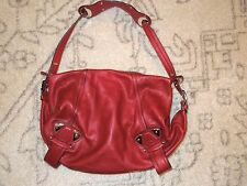 B.MAKOWSKY GENUINE LEATHER BURGUNDY SHOULDER/ HAND BAG VGUC