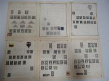Antique Ecuador Postage Stamps 1881-1924 On Page Lot of 11 - Make an Offer