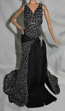 DRESS ONLY ~ BARBIE DOLL JAZZ BABY DIVA MODEL MUSE BLACK SILVER EVENING GOWN