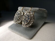 Beautiful Antique Estate 14K Pink Rose Gold Diamond Sapphire Drop Earrings
