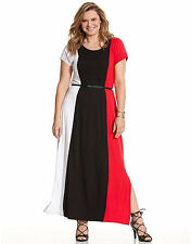 NEW LANE BRYANT PLUS SIZE COLORBLOCK MAXI DRESS SZ 18/20