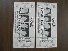 The Knack 1979 - 2 full tickets unused Tower theater in Upper Darby, pa