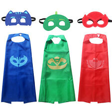 3 x Kids Superhero PJ Masks Cape Paw Patrol Owlette Catboy Cosplay Costume Party