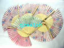 Wholesale 20 PCS Chinese Silk folding Bamboo Hand Fan Fans Art Handmade Flower