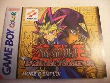 Retrogaming NINTENDO GBA Game Boy COLOR Notice YU-GI-OH Duel des Tenebres Manual