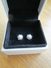 Pandora Silver Pearl Stud Earrings 290533P  With Pandora Suede Pouch
