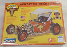 Lindberg 1/16 Model T Bull Horn Hot Rod Model Kit New