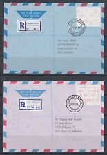 South Africa1988 Registered Air Mail Covers with FRAMA labels, 2 diff to Germany