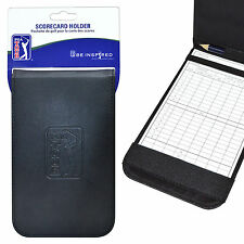 PGA TOUR Deluxe Embossed Synthetic Leather Scorecard Holder Mens Women Golf Gift