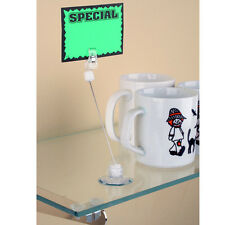 Sign Holder with Suction Cup and Clip - 10 pieces - Ships from US