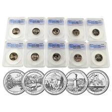 2011 ATB National Parks Proof Quarter Set Certified Perfect ANACS SP68 10 pieces