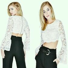 GUESS BY MARCIANO WILLA LACE CROP TOP