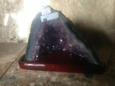 Purple Amethyst Crystal Church Chapel Geode Gift Home Office Business Decor