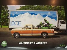 "NEW ARCTIC CAT POSTER TEAM ARCTIC SNOWMOBILE WAITING FOR WINTER 25"" X 38"""
