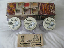 Osterizer Mini-Blend Containers (set of 3) 1/2 pint (250ml) for Oster blenders