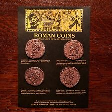 Set of 4 One-Sided Roman Coin Replicas - can be used as an Educational Resource!