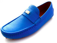 Gucci Mens Camelot Blue Leather Loafers Shoes 7 G 8 US Made in Italy
