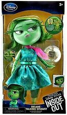 """Disney Store Pixar Disgust Deluxe Talking Doll Inside Out 10"""" H Lights Up NIB"""