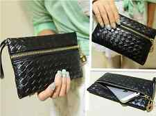 Fashion Black PU Leather Handbag Hobo Tote Clutch Handbags Purses Wallets Korean