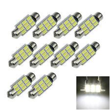 10X White 36MM 9 5730 Canbus Error Free Festoon Map LED Light Roof Bulb I129