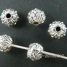 100pcs Tibetan Silver Bail Style Spacer Beads 7x6mm 9386