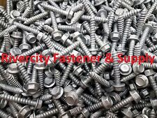 (100) 1/4 x 1-1/2 Galvanized Hex Head Flange Lag Bolts / Wood Screws 1/4x1.5