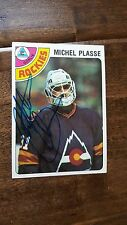 1978-79 TOPPS SIGNED CARD MICHEL PLASSE ROCKIES SCOUTS PENGUINS CANADIENS # 36