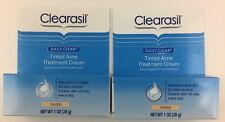 2 Clearasil Daily Clear Tinted Acne Treatment Cream 1 oz Exp 02/2017