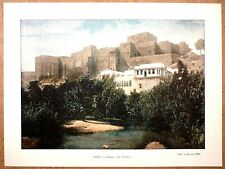 LE CHÂTEAU DE TRIPOLI AU LIBAN - Photochromie fin 19ème  Gravure