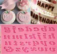 1X Silicone Alphabet Letter Trays Chocolate Mold Cake Fondant Decorating Tools A