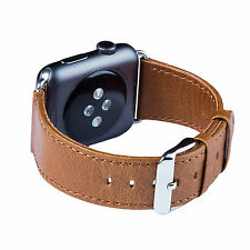 Apple Watch band, FUTLEX 42mm - Brown Genuine Heritage Leather Strap