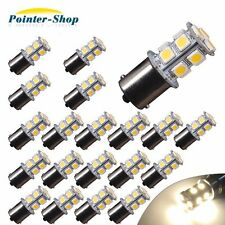 20x Warm White 1156 13-SMD RV Camper Trailer LED Interior Light Bulbs 1141 12V