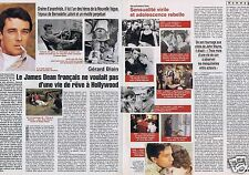Coupure de presse Clipping 2000 Gérard Blain (2 pages)