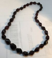 Vintage Cherry Amber Bakelite Graduated Hand Knotted Necklace
