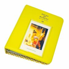 64 Pockets Photo Album Mini Fuji Instax Polaroid Lemon Yellow [Sprite Science]