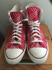 (Product) Red Campaign Converse Shoes Sneakers Men's Size 12 High Tops (RED)