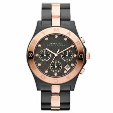 * Nuovo * Marc by Marc Jacobs Ladies Watch mbm3180-Lama due tonalità Rose Oro Nero