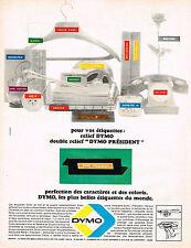 PUBLICITE ADVERTISING 064  1965  DYMO   les plus belles étiquettes