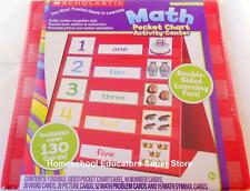 SCHOLASTIC MATH POCKET CHART ACTIVITY CENTER HOMESCHOOL PRE-K to 1st NUMBERS NEW