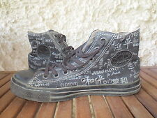 CONVERSE ALL-STAR noir peace paix collector canvas toile pointure 41 USA 7,5