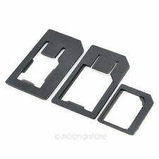 Nano SIM to Micro SIM + Nano SIM to SIM + Micro SIM to SIM Card Adapter Set PW2