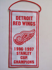 """Detroit Red Wings 1996-97 Stanley Cup Champions Mini Banners 5""""x10"""""""