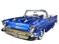 1957 CHEVROLET BEL AIR CONVERTIBLE BLUE TOM KELLY ED. 1/24 M2 MACHINES 40300-51A