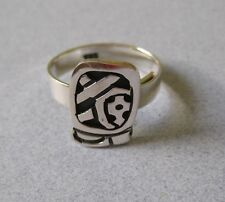Mexican Silver Aztec Mayan POP Zodiac Calendar JULY 16 - AUGUST 4 Ring Size 7